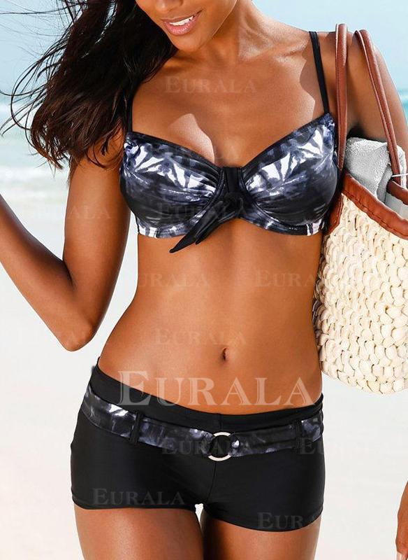 Niski stan W prążki Seksowny Bikini Stroje kąpielowe