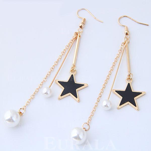 Exquisito Aleación La perla de faux con Perlas de imitación De mujer Pendientes de la manera (Juego de 2)