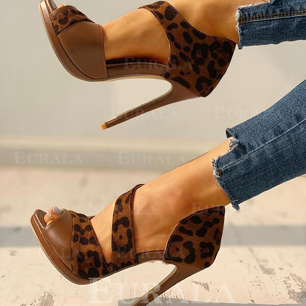 Women's PU Stiletto Heel Pumps With Animal Print shoes