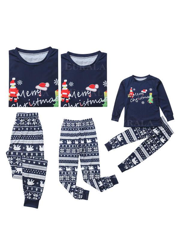 Papai Noel Carta Estampado Família Combinando Natal Pijama