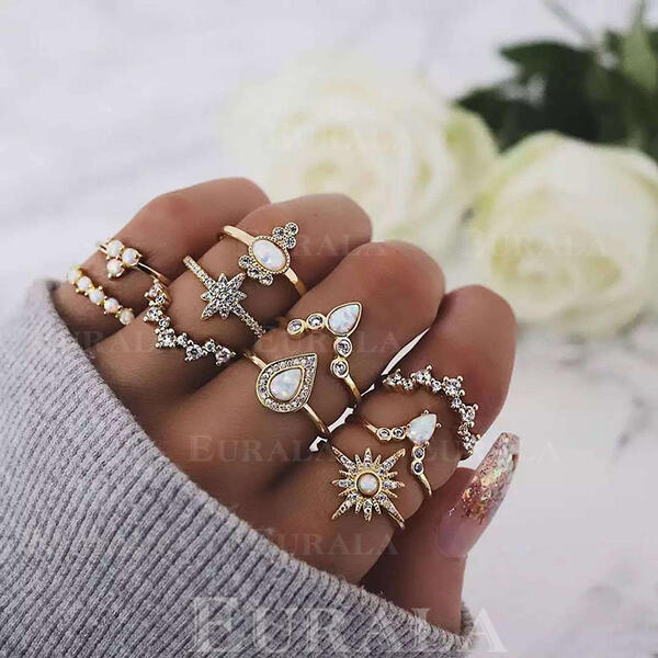 Stylish Alloy Jewelry Sets Rings (Set of 10)