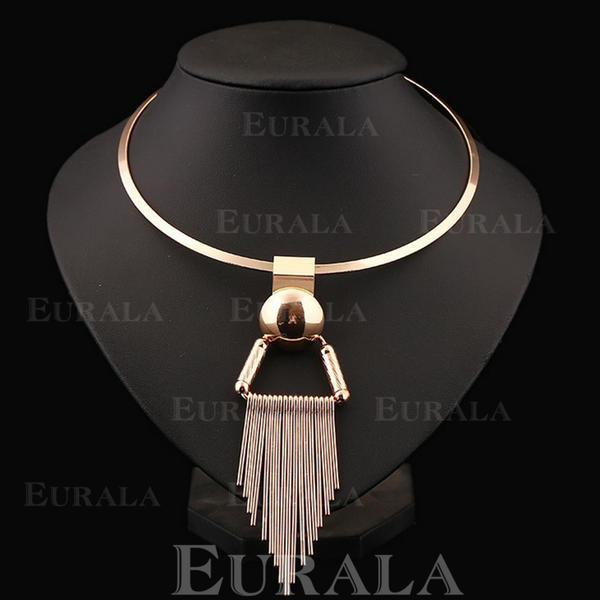 Egyedi Ötvözet Női divat nyaklánc (Egy darabban eladva)