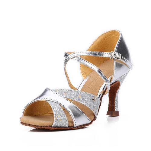 Pentru Femei Latin Sandale Imitaţie de Piele Sclipici Sclipitor Latini