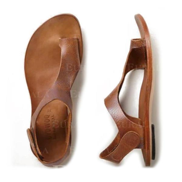 PU Flat Heel Sandaler Flip Flops med Andra skor