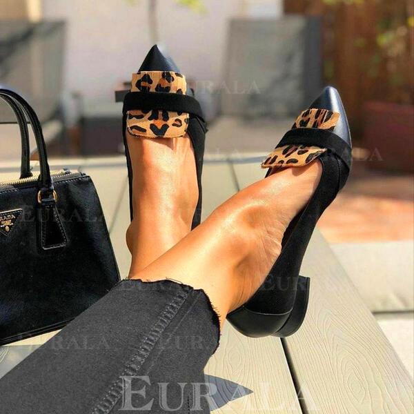 Женский PU Плоский каблук Квартиры Slip On с Рисунок животного Выдолбить обувь