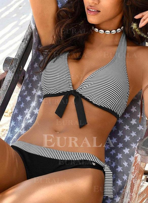 Proužek Ke krku Sexy přitažlivý Bikiny Costume de baie
