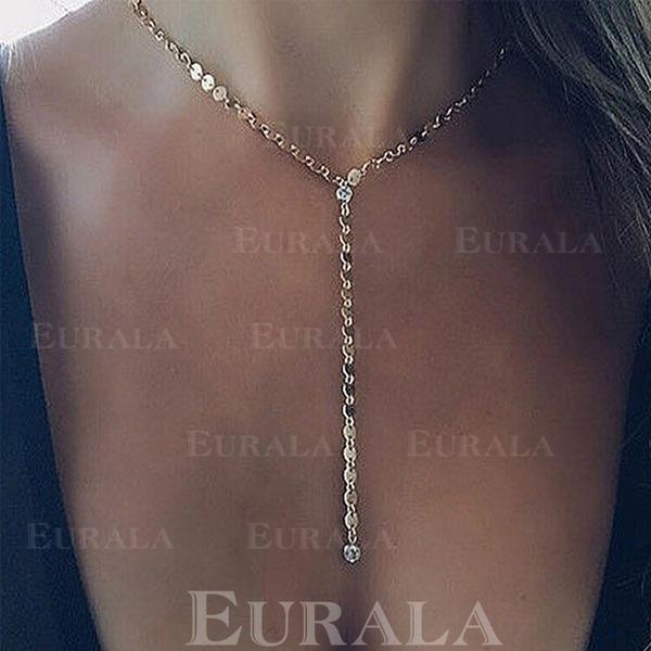 gyönyörű strassz Réz -Val Hegyikristály Női nyakláncok