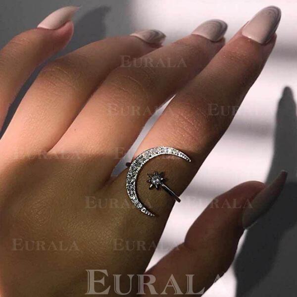 přitažlivý Okouzlující Elegantní Umělecký Decentní Slitina S Minimalistický Ladies ' Prsteny