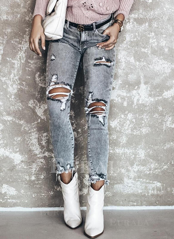Ripped Elegant Sexy Denim & Jeans