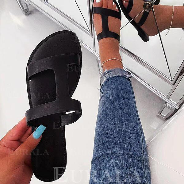 Mulheres Tecido Sem salto Sandálias Sem salto Peep toe Chinelos sapatos