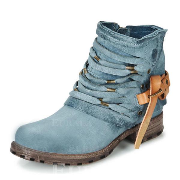 Pentru Femei PU Toc jos Cizme cu Fermoar pantofi