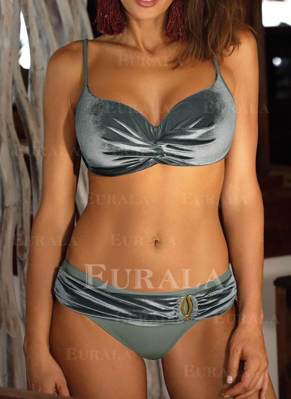 Culoare tare Talie Joasă Curea Elegant Bikini Mayolar