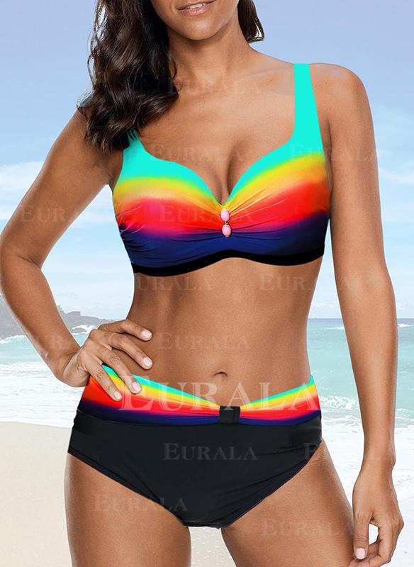 Culori împletite Curea Sexy Bikini Mayolar