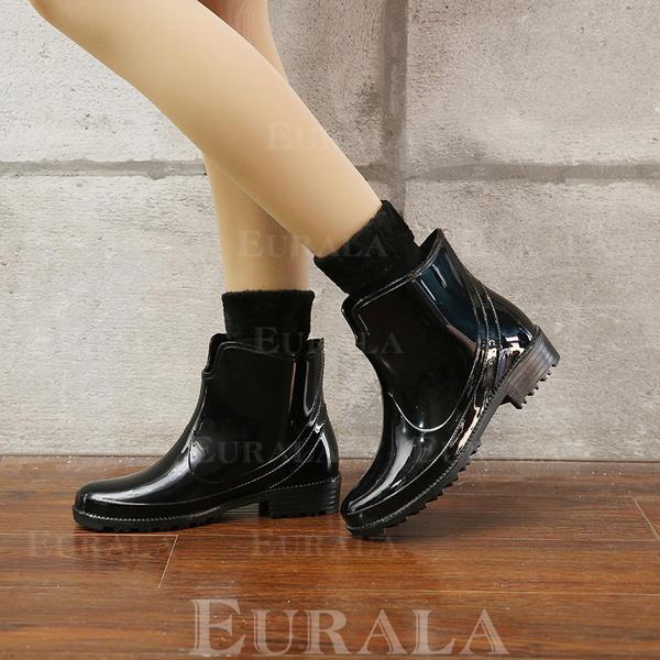 Mulheres PVC Salto baixo Botas Botas de chuva com Outros sapatos