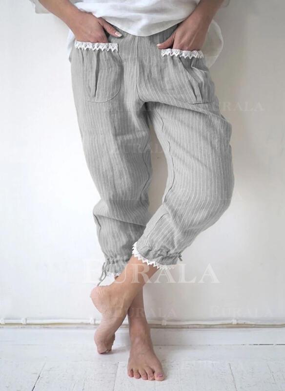 Kapsy Shirred Plus velikost Neformální Prostý Lounge kalhoty