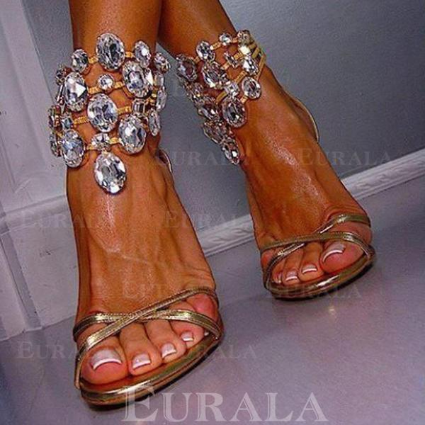 Pentru Femei Toc Stiletto Sandale cu Cristal pantofi