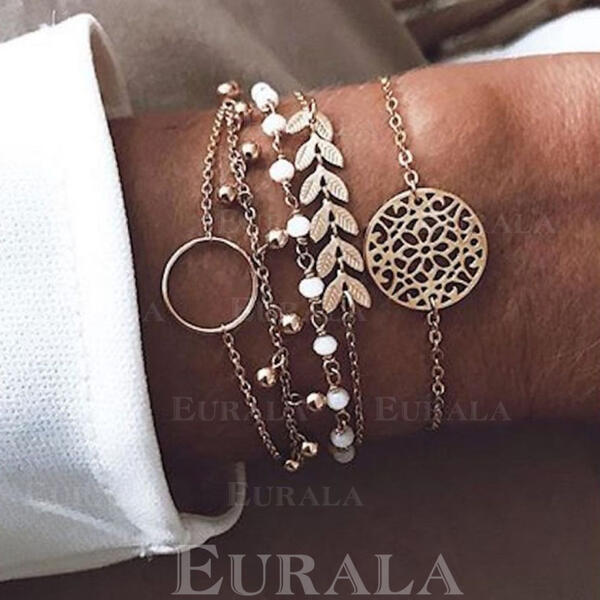 Hottest Layered Alloy Beads Bracelets 5 PCS