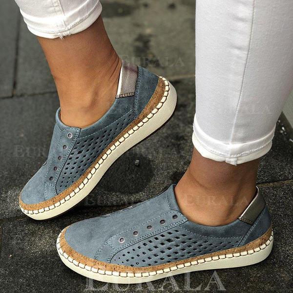 Pentru Femei PU călcâi plat Balerini cu De la gât înafară pantofi