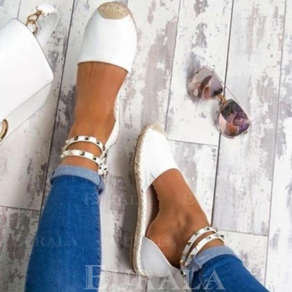 Pentru Femei Imitaţie de Piele Toc jos Sandale cu Nit pantofi