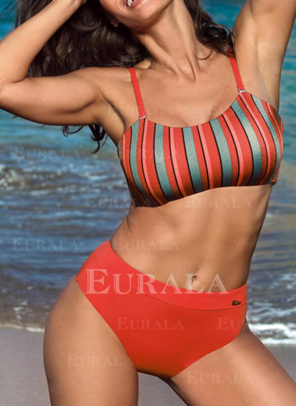 нашивка Высокая талия Ремень сексуальный Boho Bikinis купальников
