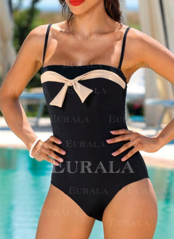 Bowknot Strap Sexy One-piece Swimsuits