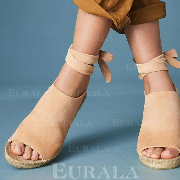 Bayanlar PU Sivri topuk Peep Toe Ile Bağcıklı ayakkabı ayakkabı