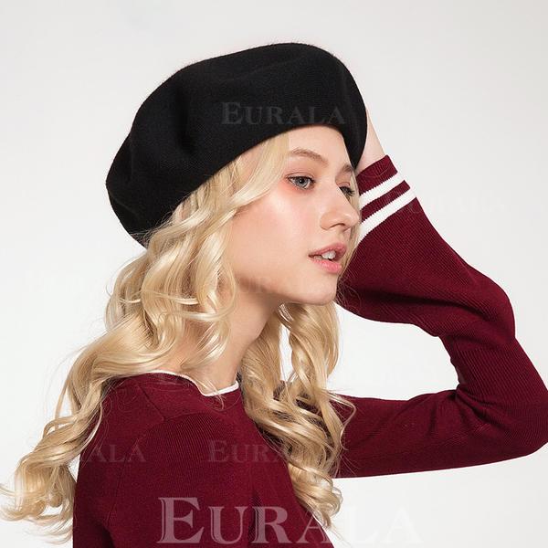 Damer' Mode/Söt Ull/Akryl Basker Hat