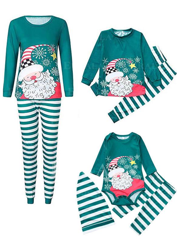 Papai Noel Listra Família Combinando Natal Pijama