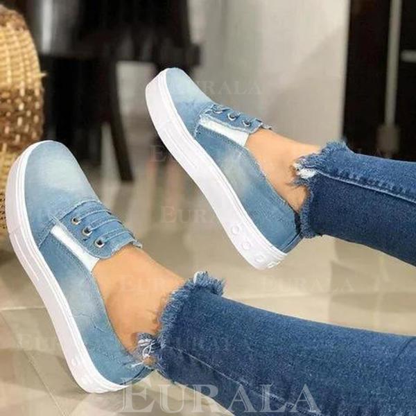 Kvinnor Jeans Flat Heel Platta Skor / Fritidsskor skor