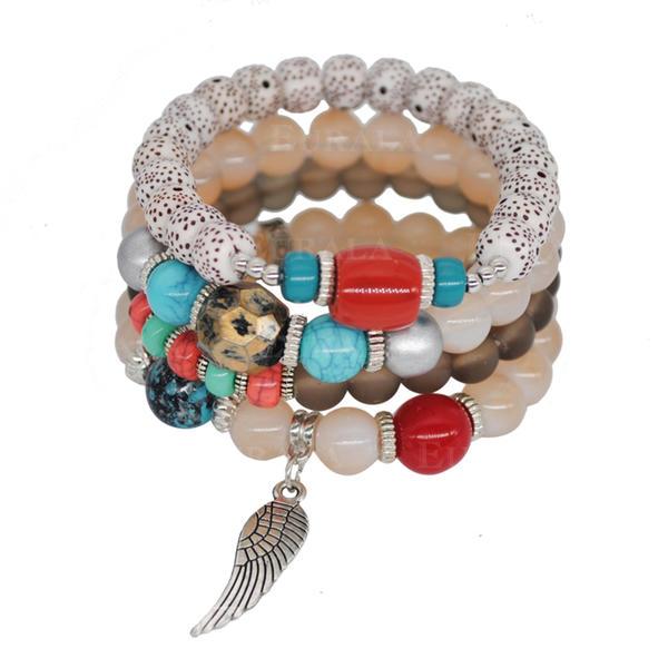 Hermoso Aleación Acrílico Perlas de cristal Señoras' Pulseras de Moda