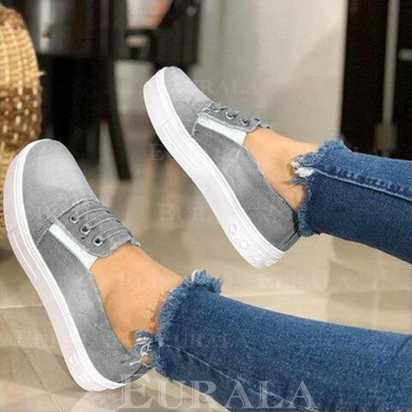 Dla kobiet Dżinsowa Płaski Obcas Plaskie obuwie