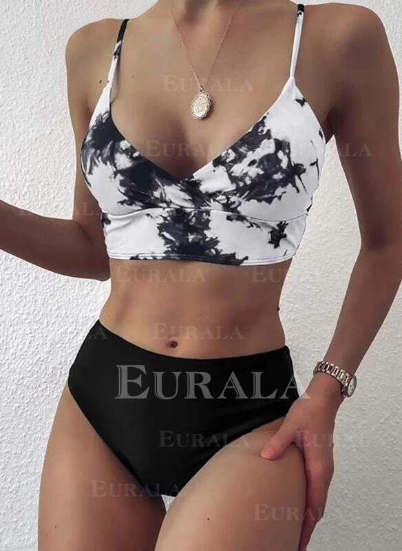 Треугольник Цвет соединения Ремень V шеи сексуальный Bikinis купальников