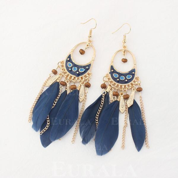 gyönyörű Ötvözet Madártoll Női divat fülbevalók