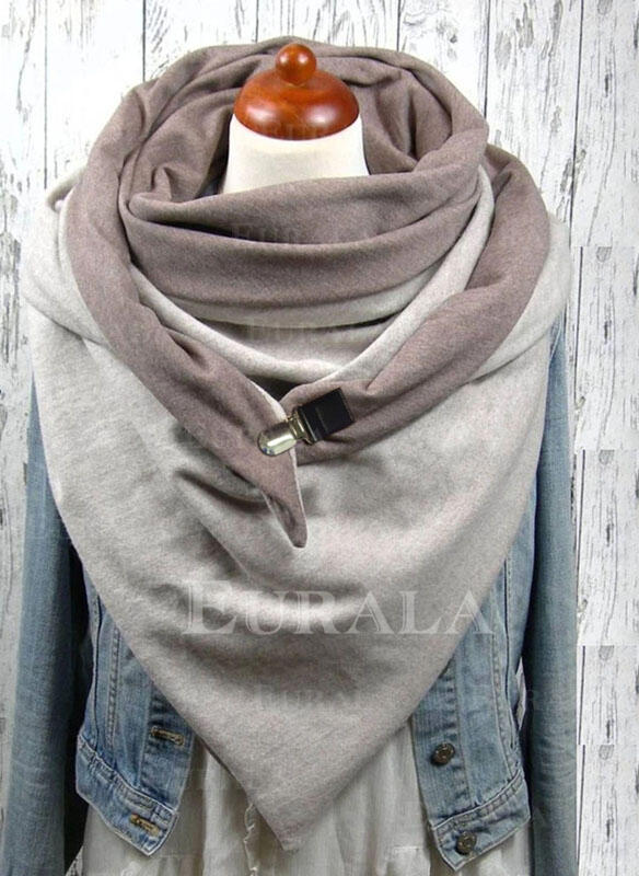 Solid Color/Retro/Vintage Reusable/Women's/Simple Style Scarf
