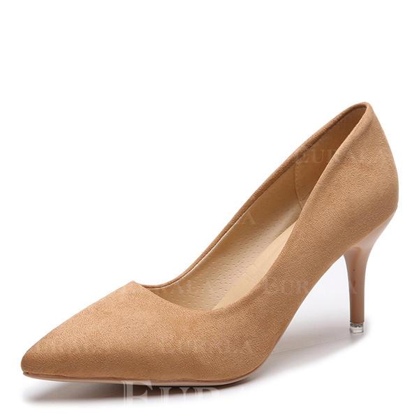 Bayanlar Süet Topuklu ayakkabı Pompalar ayakkabı