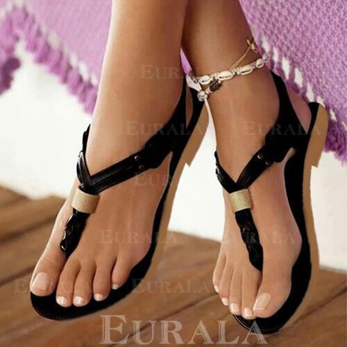 Cuero Tacón plano Sandalias con Otros zapatos