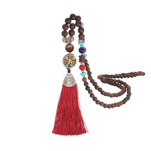 Moda Egzotik Klasik alaşım Ahşap Boncuk Kadın Moda Kolye