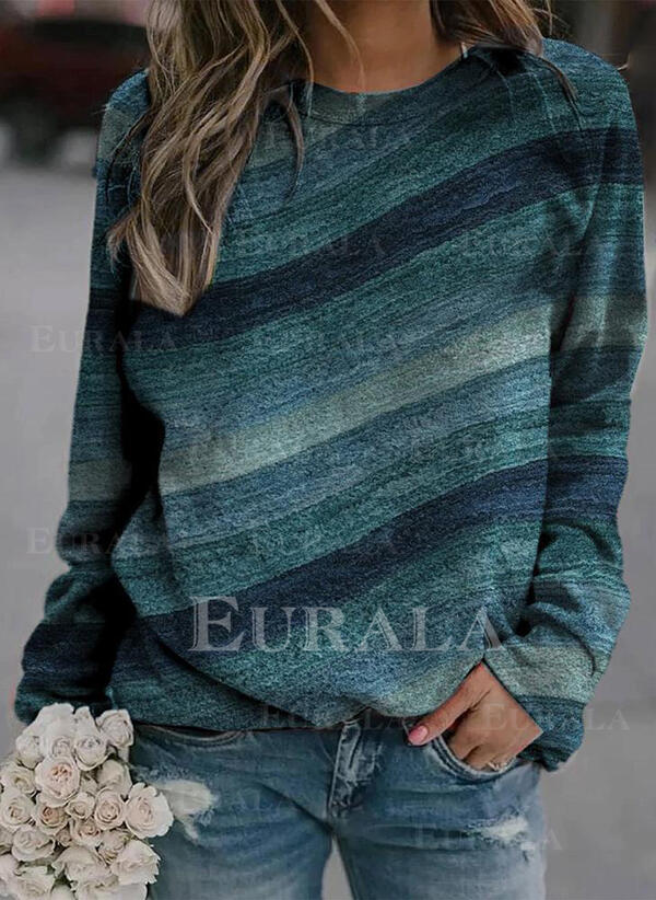 Print Long Sleeves Sweatshirt