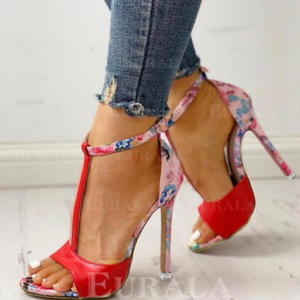 Bayanlar bez Topuklu ayakkabı Pompalar Peep Toe Ile Hayvan baskı ayakkabı