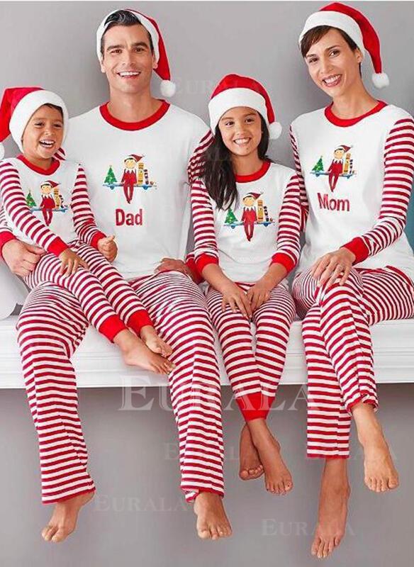 W Paski Wydrukować Rodzinne Dopasowanie Świąteczne piżamy Piżama