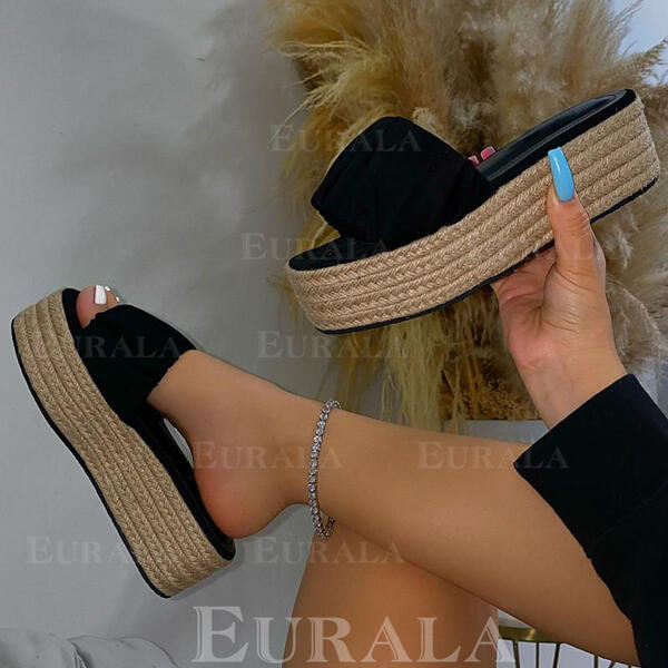 Сандалии Платформа Peep Toe Домашние тапочки с Выдолбить Цвет соединения обувь