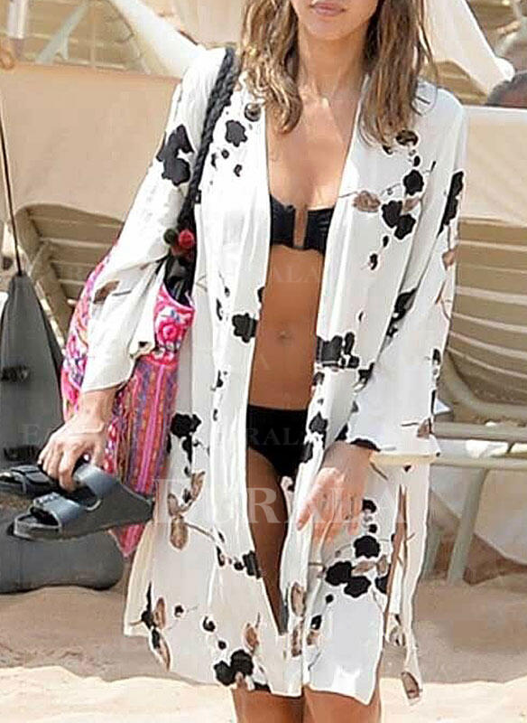 Print Bohemian Cover-ups Swimsuits