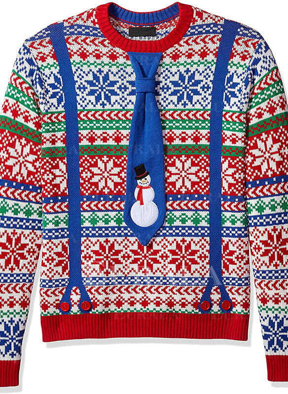 Unisex Polyester Print Ugly Christmas Sweater