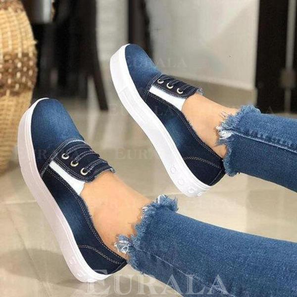 Bayanlar kot Düz topuk Flats ayakkabı