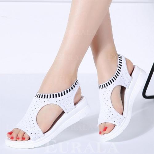 De mujer Tejido Tacón plano Sandalias con Otros zapatos