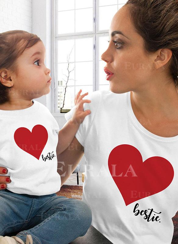 Mãe e eu Carta Impressão Combinando Camisetas