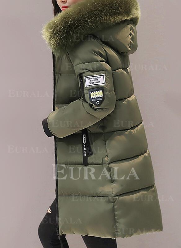 Poliészter Hosszú ujjú Egyszerű Down kabátok