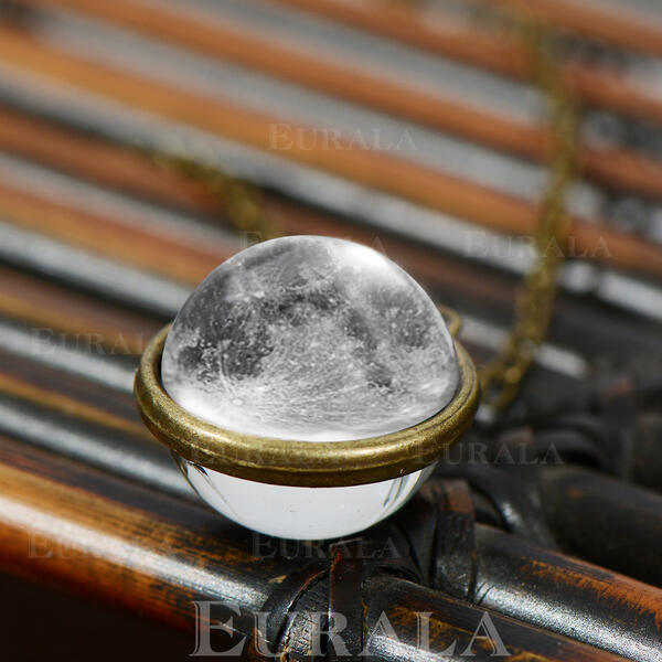 Beautiful Planet Moon Alloy Glass Women's Necklaces
