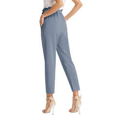 Solid Capris Fritids Solid Byxor