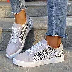 Women's PU Flat Heel Sneakers With Animal Print shoes